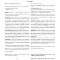 Resúmenes de los Trabajos Presentados en <br /><br /> Neuropinamar 2013<br /><br /> POSTERS