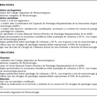 """Proyecto para un título de especialista: """"Neurocirujano especializado en cirugía de columna"""""""