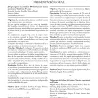 Resúmenes de los trabajos presentados en Neuropinamar 2014<br /><br /> <br /><br /> PRESENTACIÓN ORAL