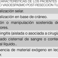 Vasoespasmo en post operatorio de resección tumoral: presentación de un caso y revisión de bibliografía