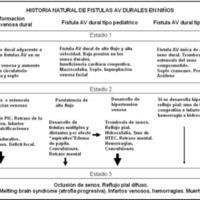 Cuadro 1. Historia natural de fístulas arteriovenosas durales en niños