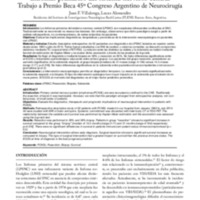 Implicancias diagnósticas, terapéuticas y pronosticas de la Intervención neuroquirúrgica en los linfomas primarios del sistema nervioso central. Trabajo a Premio Beca 45º Congreso Argentino de Neurocirugía