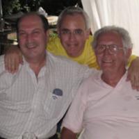 Horacio con Alfredo Monti y el autor de éstas líneas.