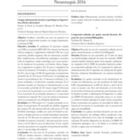 Resúmenes de los trabajos presentados en Neuroraquis 2016
