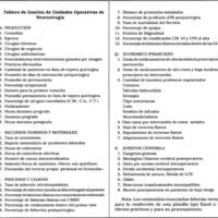 Tablero de Gestión de Unidades Operativas de Neurocirugía