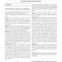 Resúmenes de los Trabajos Presentados en <br /><br /> Neuropinamar 2013<br /><br /> TRABAJOS DE PRESENTACIÓN ORAL